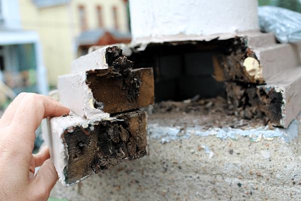 Porch Column Base Damage