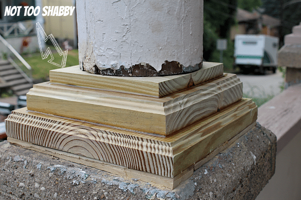 Make Porch Column Bases From Pressure Treated Lumber