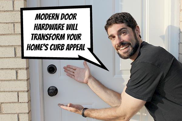 Refinish your exterior door hardware and make it look amazing - Home hardware exterior door handles ...