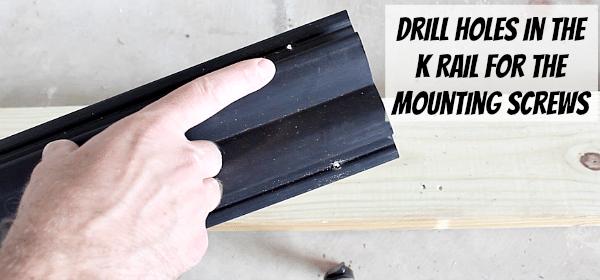 Drill Holes in K Rail
