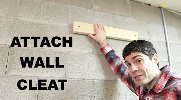 Attach Wall Cleat