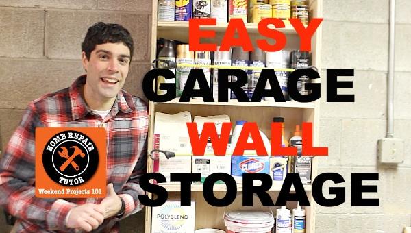 Easy Garage Wall Storage