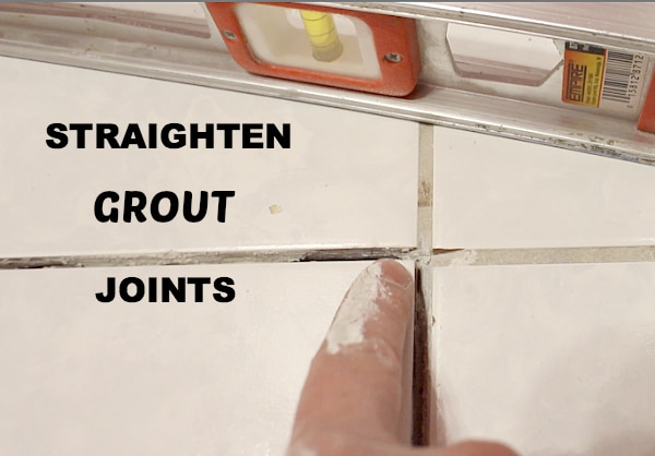 Straighten Grout Joints
