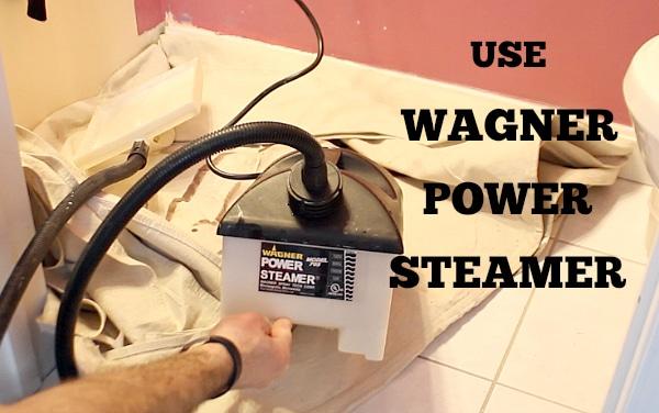 Use wagner power steamer