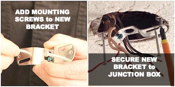Adding new mounting bracket