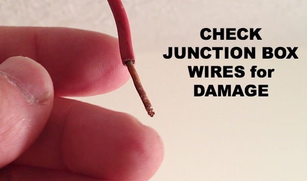 Check junction box wires for damage