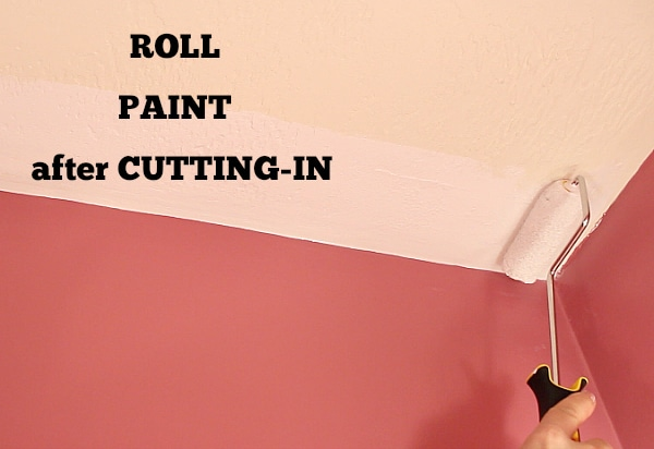 Roll Paint after Cutting In