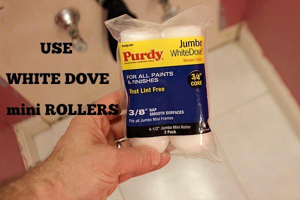 White Dove Mini Rollers