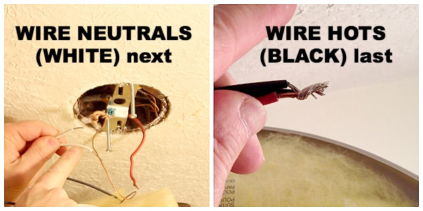 Wire neutrals and hots