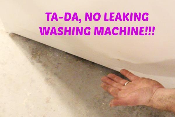 lg washing machine leaking