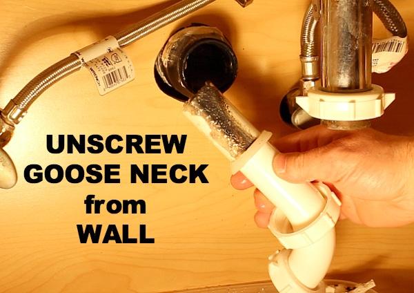 Unscrew goose neck