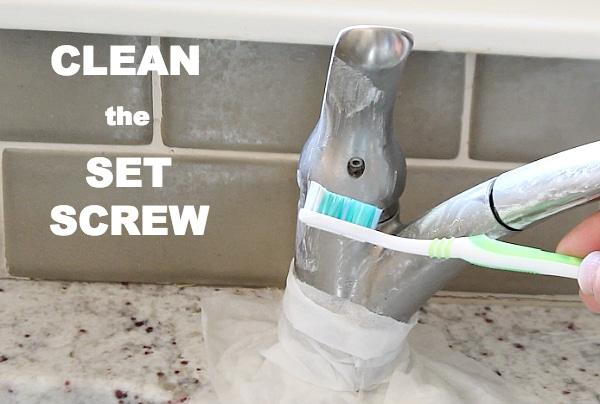 Clean set screw