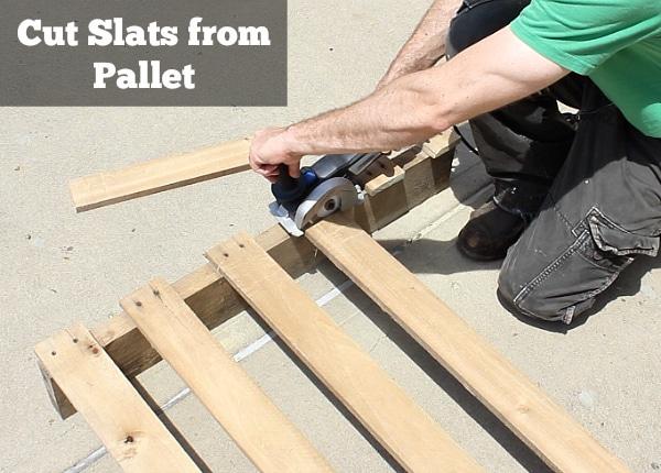 Cut slats from Pallet