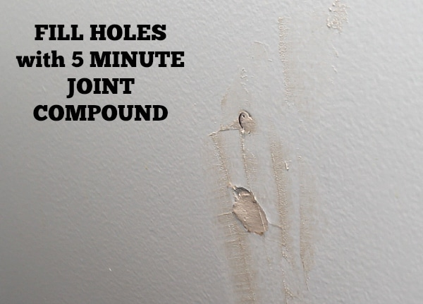 Fill holes with compound