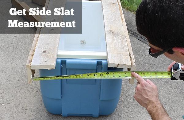 Get side slat measurement