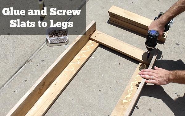 Glue and screw side slats