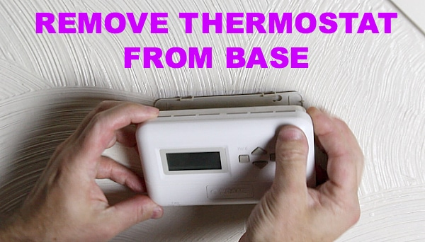 Remove thermostat from base