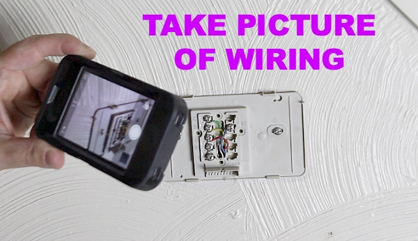 Take picture of wiring