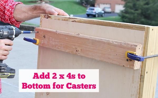 Add 2x4s to bottom