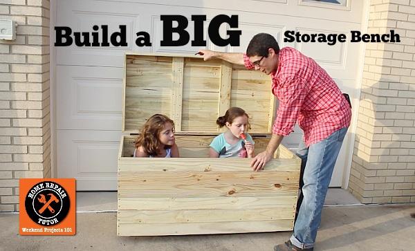Superb Build A Big Outdoor Storage Bench Home Repair Tutor Inzonedesignstudio Interior Chair Design Inzonedesignstudiocom