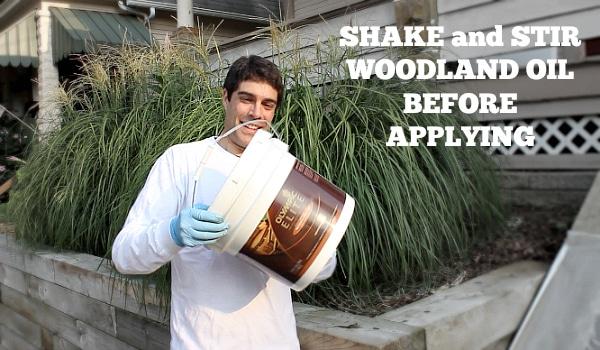 Shake woodland oil