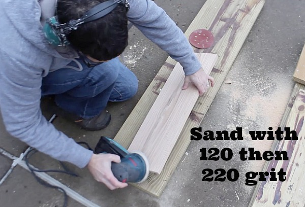 Sand wood with 120 then 220 grit