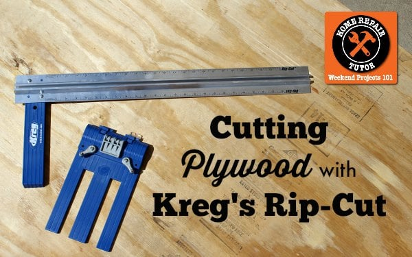 Cutting Plywood with Kreg's Rip Cut HRT