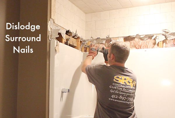 How To Remove A Fiberglass Bathtub And Surround Home