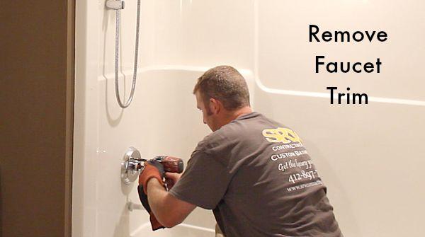 How To Remove A Fibergl Bathtub And Surround Home Repair Tutor