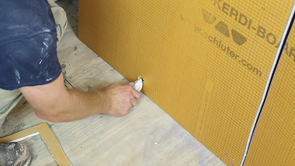 Cut Tub Spout Hole in Kerdi Board