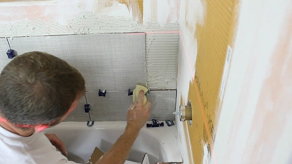 how to tile a shower walland cut holes in tile  home