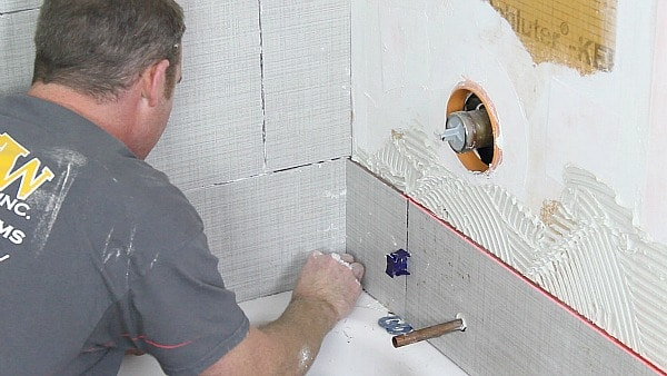 Shower Wall And Cut Holes In Tile