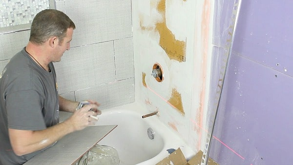 How To Tile A Shower Wall And Cut, How To Cut Tiles Fit Around Pipes