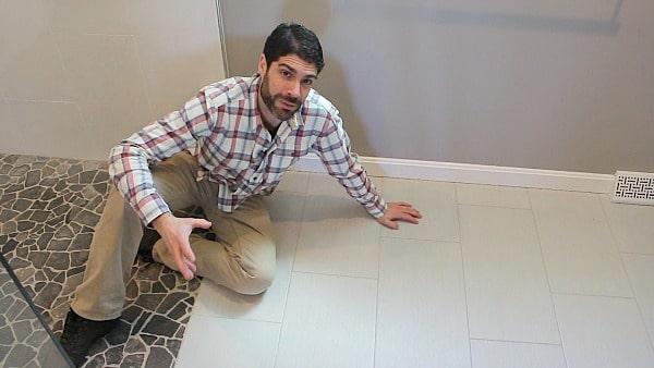 Large floor tile