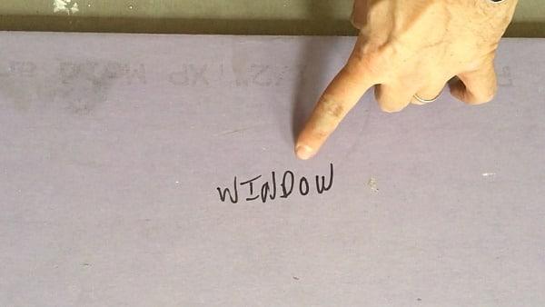 Label Drywall Window