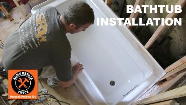 How to Install a Bathtub