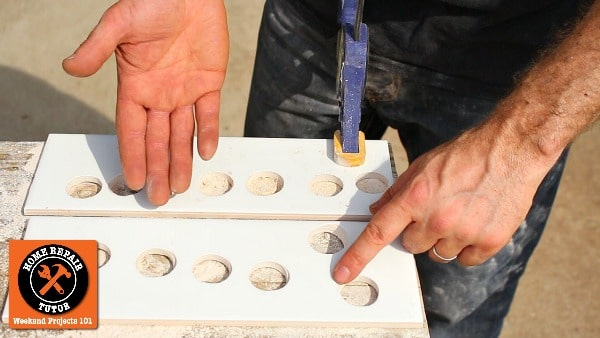 drill large holes in ceramic tile