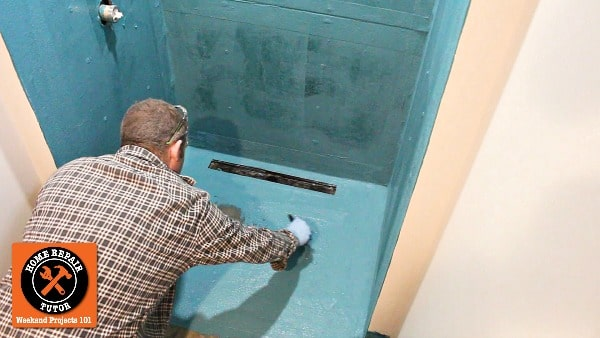 Waterproof Basement Curbless Shower