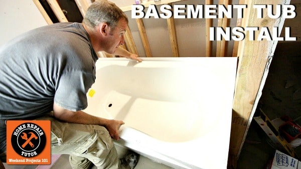 How To Install A Basement Bathtub And, How To Install A Tub Drain In The Basement