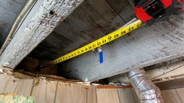 Measuring copper pipe length