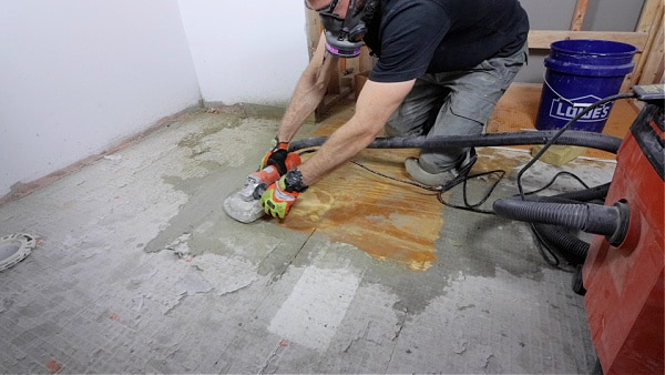 How to Use an Angle Grinder to Remove Thin-Set