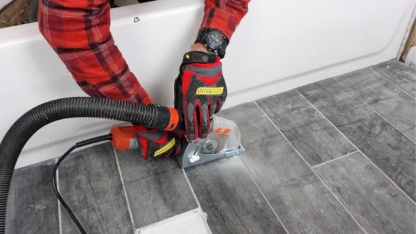Plunge Cut Floor Tiles