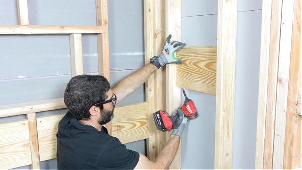 Adding Wood for Delta Shower Valves