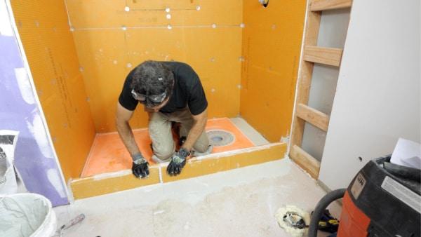 How to Set Schluter Shower Curbs