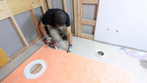 How to trim Schluter shower pan